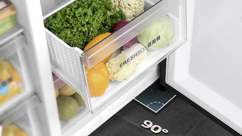 Tủ lạnh Inverter Aqua AQR-S541XA(BL) làm lạnh đa chiều