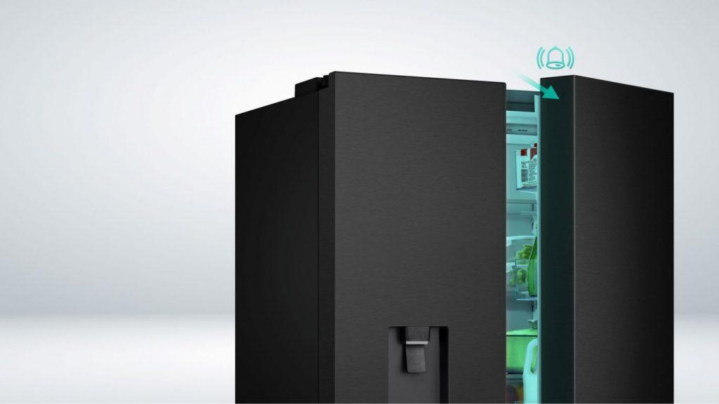 Tủ lạnh Casper 680VBW cảnh báo cửa mở