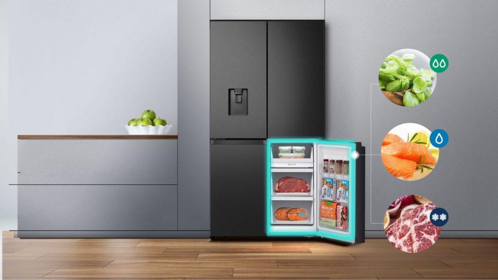 Tủ lạnh Casper RM-680VBW có ngăn tùy chỉnh chuyển đổi