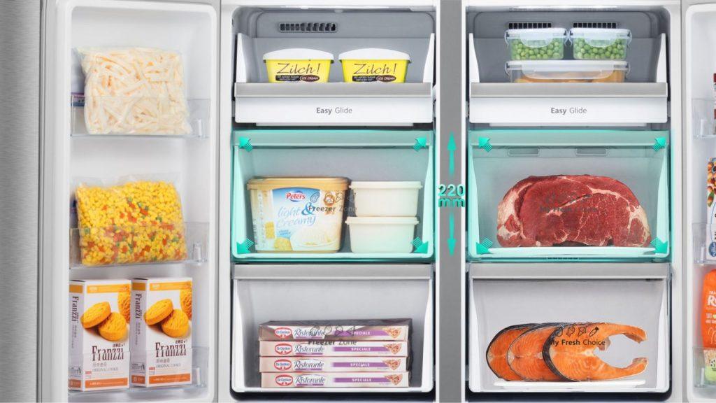Tủ lạnh Casper RM-680VBW 645L ngăn mát dễ qua sát