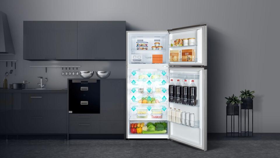Tủ lạnh Casper RT-421VGW 404L công nghệ làm lạnh đã chiều