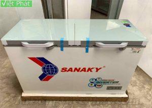 Tủ đông Sanaky INVERTER VH-4099A4KD mặt kính cường lực xanh