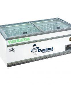 Tủ đông Sumikura SKIF-250SX mặt kính phẳng 1100L