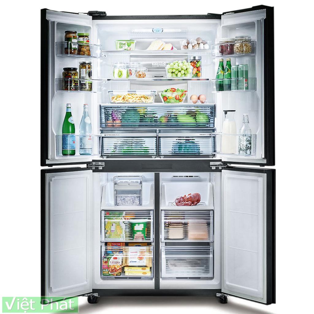 Tủ lạnh Sharp Inverter 590 lít SJ-FXP600VG-BK 4 cửa