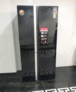 Tủ lạnh Sharp Inverter 678 lít SJ-FX688VG-BK 4 cửa