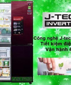 Tủ lạnh Sharp Inverter 590 lít SJ-FXP600VG-MR 4 cửa