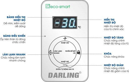 Điêu khiển tủ đông Darling DMF-4699WSI Inverter 450L 2 ngăn