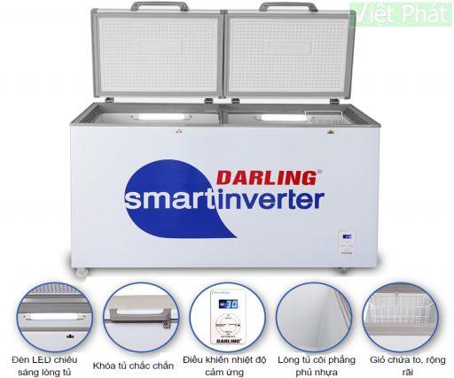 Tủ đông Darling DMF-4699WSI Inverter 450L 2 ngăn