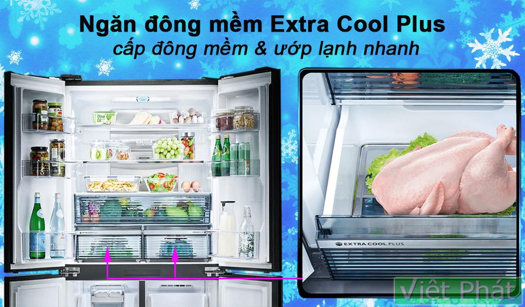 Tủ lạnh Sharp Inverter 525 lít SJ-FX600V-SL ngăn đông mềm