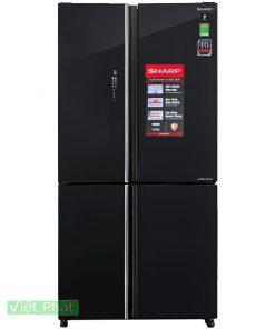Tủ lạnh Sharp Inverter 639 lít SJ-FXP640VG-BK 4 cửa