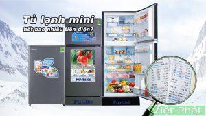 Tủ lạnh mini tốn bao nhiêu tiền điện 1 tháng
